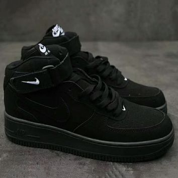 Nike Air Force 1 Mid '07  Trending High Tops Running Sport Fashion Casual Sneakers Shoes Black G-XYXY-FTQ