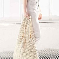 Silence + Noise Cotton Net Shopper Bag