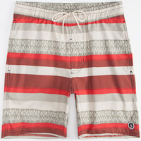 Volcom Clemente Mens Volley Boardshorts Red Combo  In Sizes