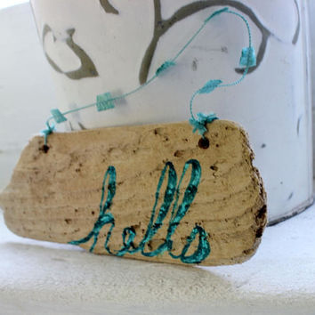 hello Driftwood Sign , coastal Home Decor , Beach Decoration, Welcome Signage
