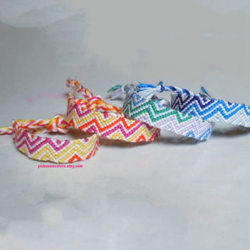 Custom Multi-Colored Zig-Zagged Friendship Bracelet