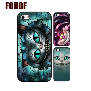 The Cheshire Cat We're All Mad Here Alice in Wonderland Cover Case for Apple iPhone 8 7 7plus 4 4s 5 5s 5c 6 6s plus (hard case)