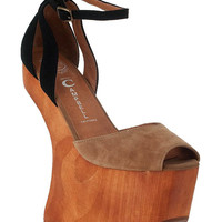 Jeffrey Campbell Str8up Platform in Two Tone