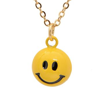 Bubbly Smiley Face Emoji Necklace