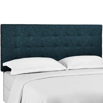 Paisley Tufted Twin Upholstered Linen Fabric Headboard