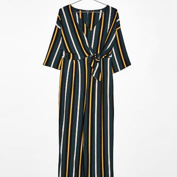 Long striped jumpsuit - Jumpsuits & Rompers - Bershka United States