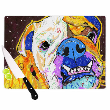 "Rebecca Fisher ""Tucker"" Bulldog Cutting Board"