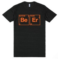 The Elements of Beer-Unisex Athletic Black T-Shirt
