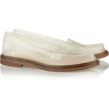 MM6 Maison Martin Margiela PVC moccasins – 65% at THE OUTNET.COM