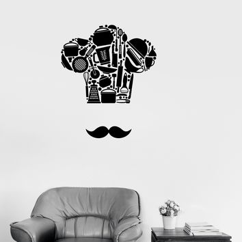 Vinyl Decal Kitchen Restaurant Chef Cooking Wall Stickers Mural Unique Gift (ig2671)