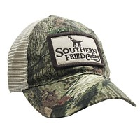 Howlin' Patch Trucker Hat in Mossy Oak Camo by Southern Fried Cotton