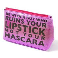 Ombre Glitter Lipstick and Mascara Cosmetic Bag  | Icing