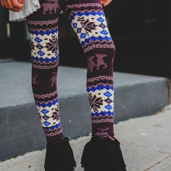 Sugar Plum Leggings - Kids