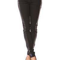 Papaya Clothing Online :: SIDE LEATHERETTE SKINNY JEANS