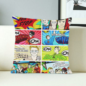 5 Seconds of Summer Don't Stop - Design Pillow Case with Black/White Color.