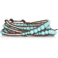 Chan Luu | Sterling silver and turquoise leather wrap bracelet | NET-A-PORTER.COM