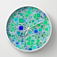 Ceramics Ocean Wall Clock by Alice Gosling