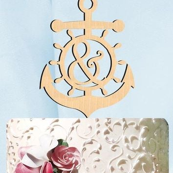 Nautical Anchor Cake Toppers