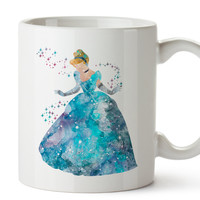 Cinderella Watercolor Coffee Mug, Kids Mug, Disney Mug