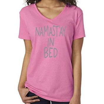 Yoga Clothing for You Womens Namaste in Bed Vee Neck Tee
