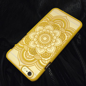 Purple Hollow Out Lace Case Cover for iphone 5s 6 6s Plus Gift 177