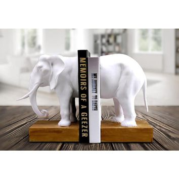 Bookend Resin Animal Elephant Figurines