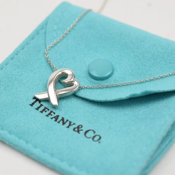 Tiffany & Co. Pendant Necklace Loving Heart Silver 925 Picasso 10278