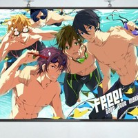 "Home Decor Japanese Anime Wall poster Scroll Free! - Iwatobi Swim Club ,24''*18"" D"