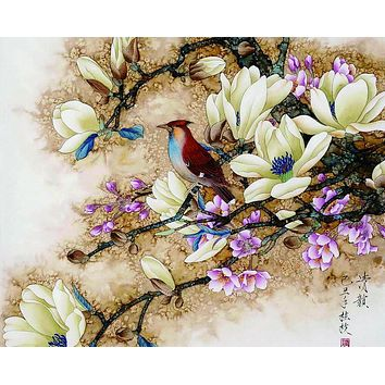 Frameless wall picture painting by numbers canvas painting home decor paint by number Bird pictures unique gift paint by numbers