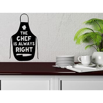 Large Wall Vinyl Decal Quote Words Kitchen Tools Chif Apron Cafe Decor (n1138)