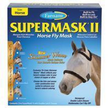 Farnam Companies Inc - Supermask Ii Colored Horse Fly Mask Without Ears