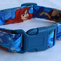 Little Mermaid Ariel Dog Collar Size XS, S, M or L