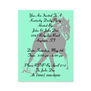 Racing Horses race Kentucky Derby Party Invitation from Zazzle.com