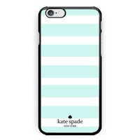 Kate Spade Mint Stripes Print on Hard Plastic Case For iPhone 6/6s iPhone 7 Plus