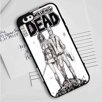 Walking Dead (michonne comics bw) iPhone Case
