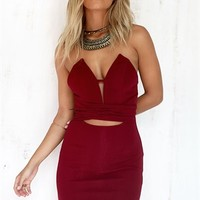 Bordeaux Dress - SABO SKIRT