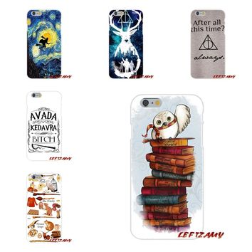 Accessories Phone Cases Covers For iPhone X 4 4S 5 5S 5C SE 6 6S 7 8 Plus harry potter deer always owl hallows