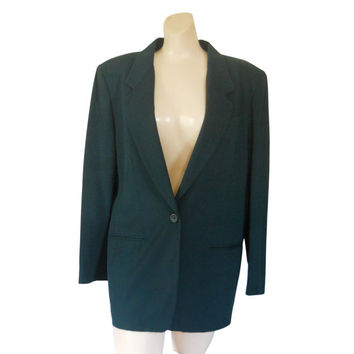 Plus Size Blazer Plus Size Clothing Plus Size Clothes Green Blazer Wool Blazer Ladies Blazer Women Blazer Jacket Ladies Clothes Vintage