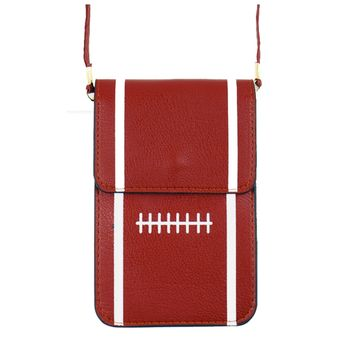 Football Phone Crossbody Pouch with Strap