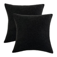 Chooty Black Fleece Simply Soft 17x17 Pillow - Set of 2