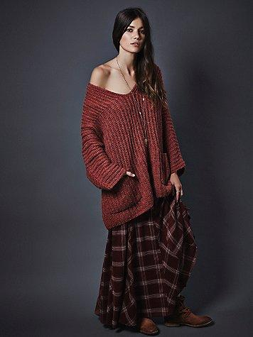 d245135f Free People Womens Mixed Plaid Maxi Skirt from Free People