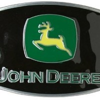 John Deere Black Belt Buckle - New