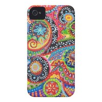 Groovy Abstract iPhone 4/4S Barely There Case-Mate Case-Mate iPhone 4 Case from Zazzle.com