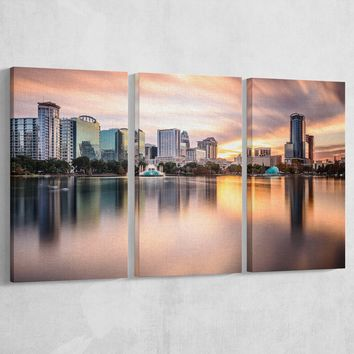 Downtown Orlando Florida Lake Eola Canvas: by APE CANVAS C105