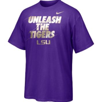 Nike Men's LSU Tigers Purple 'Unleash the Tigers' T-Shirt