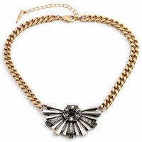 Fan Shape Statement Necklace