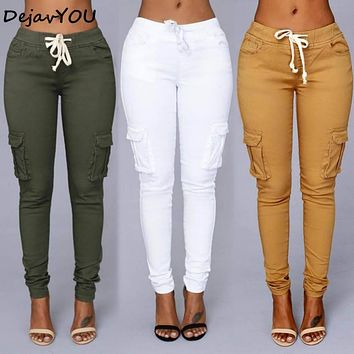 2018 Candy Colors Elastic Sexy Skinny Pencil Jeans For Women Leggings Jeans Woman High Waist Women's Thin-Section Denim Pants