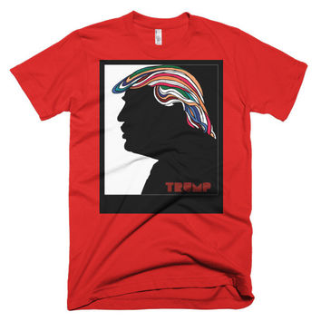 Donald Trump Psychedelic Hair Milton Glaser Redux
