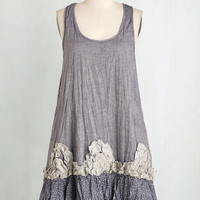 Boho Mid-length Tank top (2 thick straps) Shift Frill We Meet Again Dress