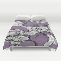 Lavender Fabric Duvet Cover by DuckyB (Brandi)